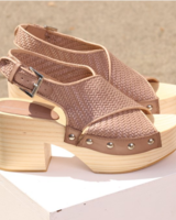 Intentionally Blank Talk Woven Sandal