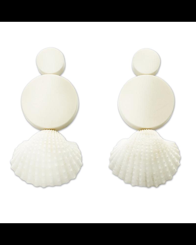 Narratives Resin&Cockle Earrings