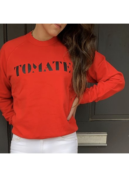 Clare V. Clare V. Sweatshirt LS Tomate