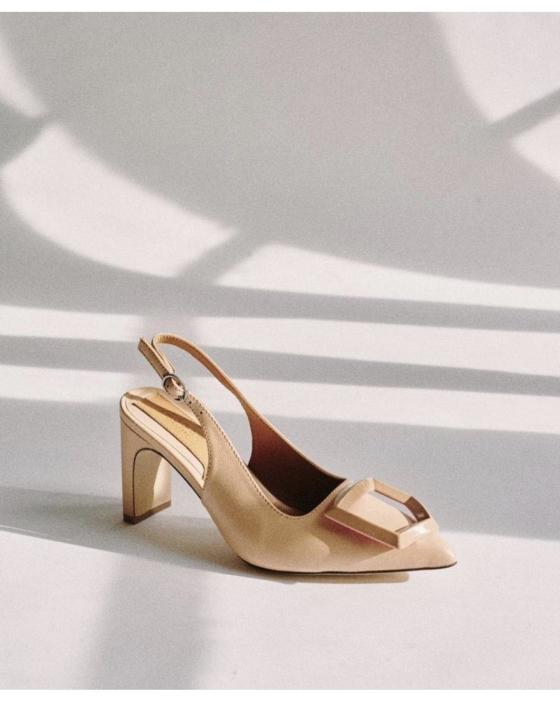 jaggar Jaggar Ornament Leather Slingback