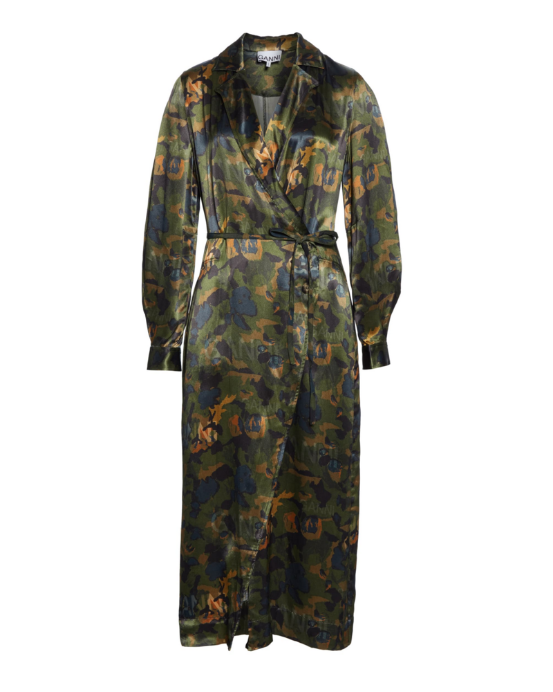 Ganni Heavy Satin Dress