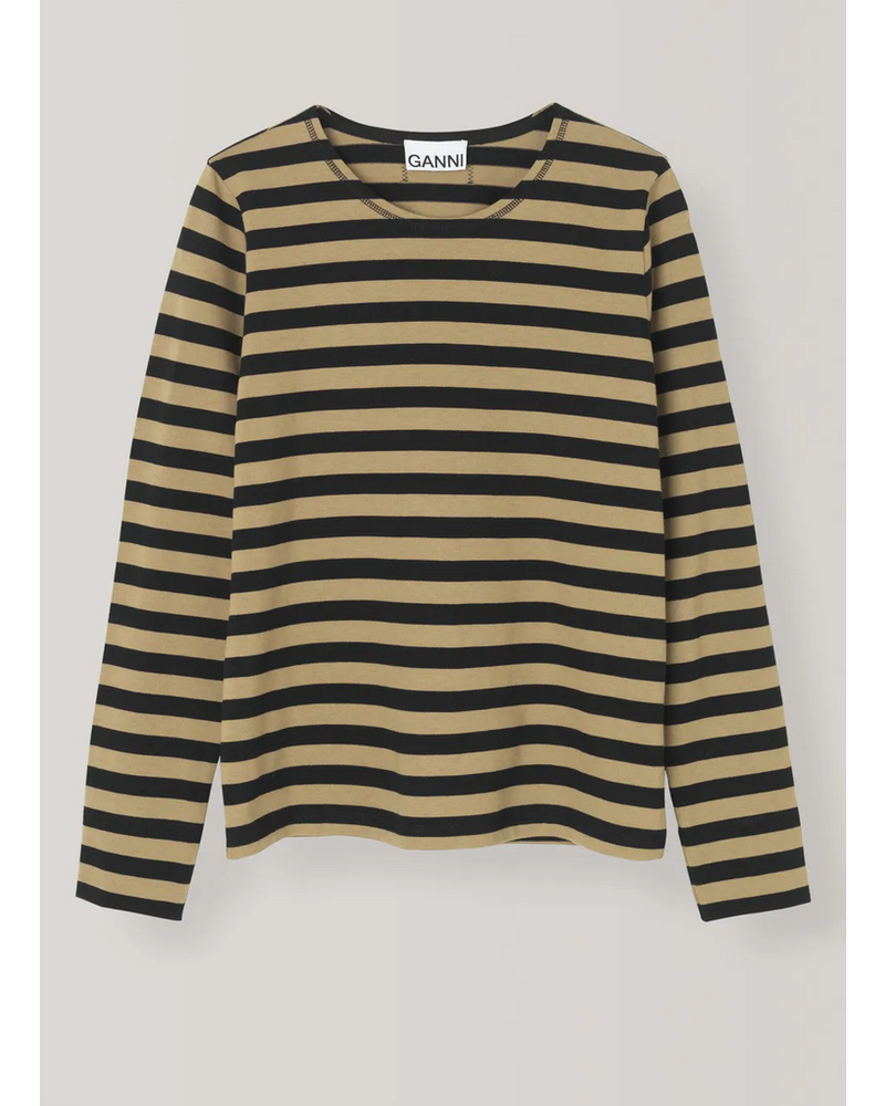 Ganni Striped Jersey Pullover