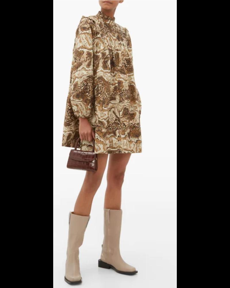 GANNI Pin Tuck Mini Dress