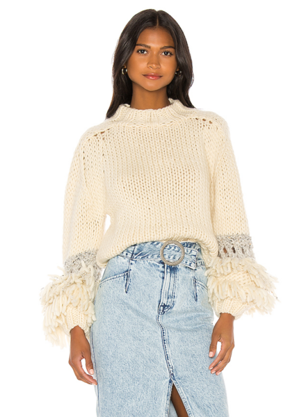 Maiami Fringed Sleeve Sweater