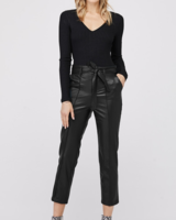 David Lerner Aless Belted High-Waist Trouser
