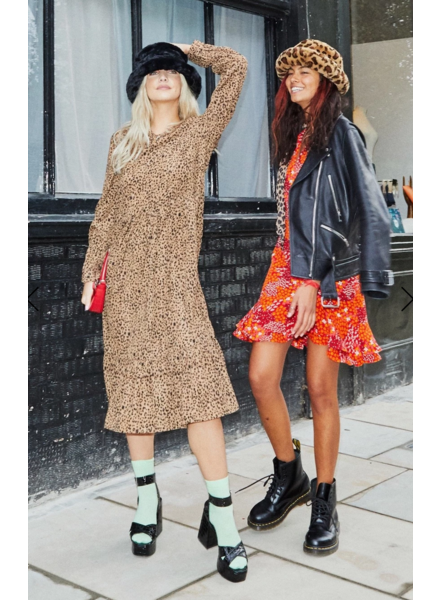 Never Fully Dressed Brown Leopard Oversized Dress