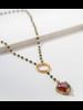 VM Cherry Heart Rosary Necklace