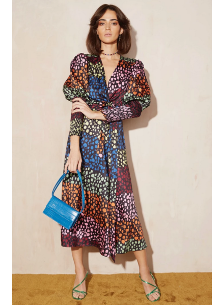 Never Fully Dressed Leopard Victoria Wrap Dress