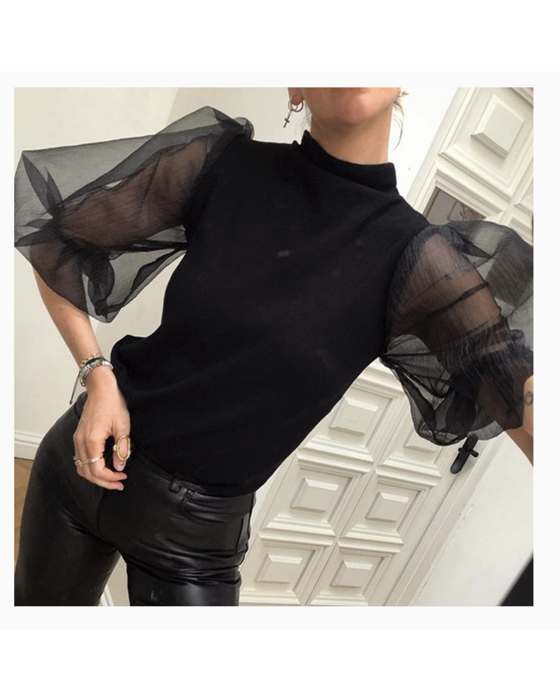 Never Fully Dressed Sheer Puff Sleeve