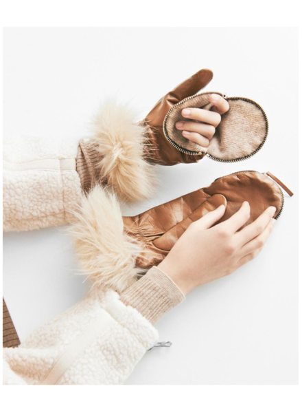 Carolina Amato Zipper Mittens