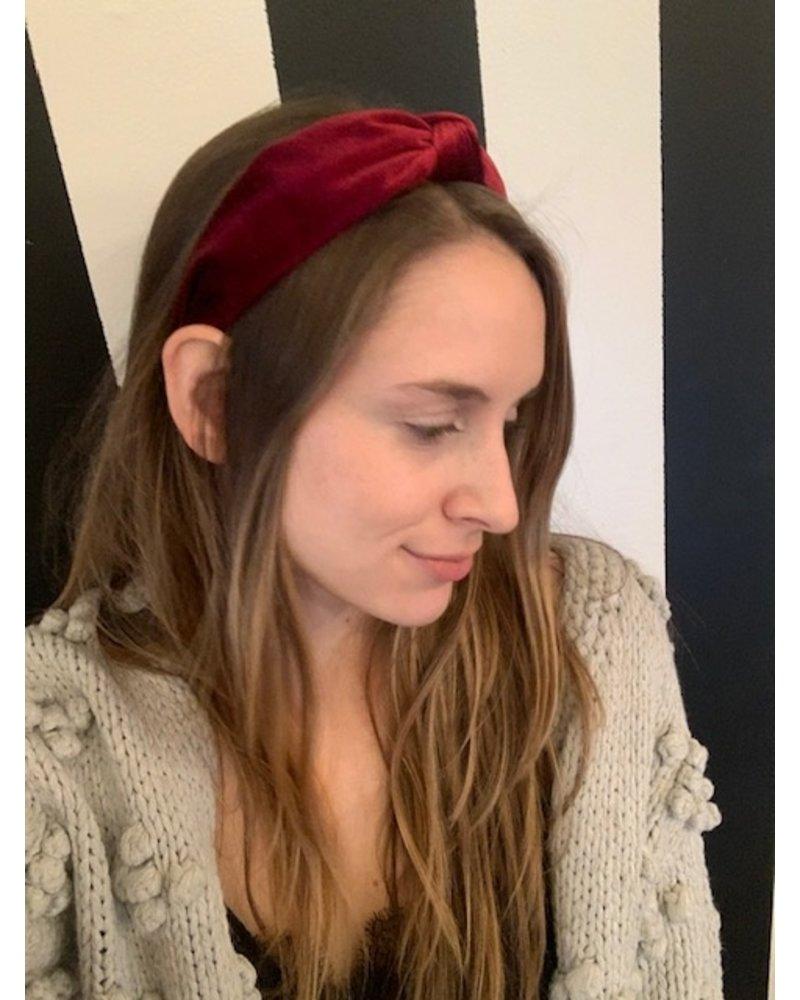Maroon Velvet Headband