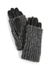 Carolina Amato Knit Overlay Gloves