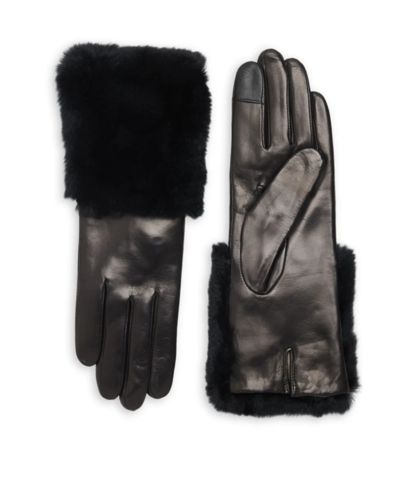 Carolina Amato Leather TT with Fur Cuff