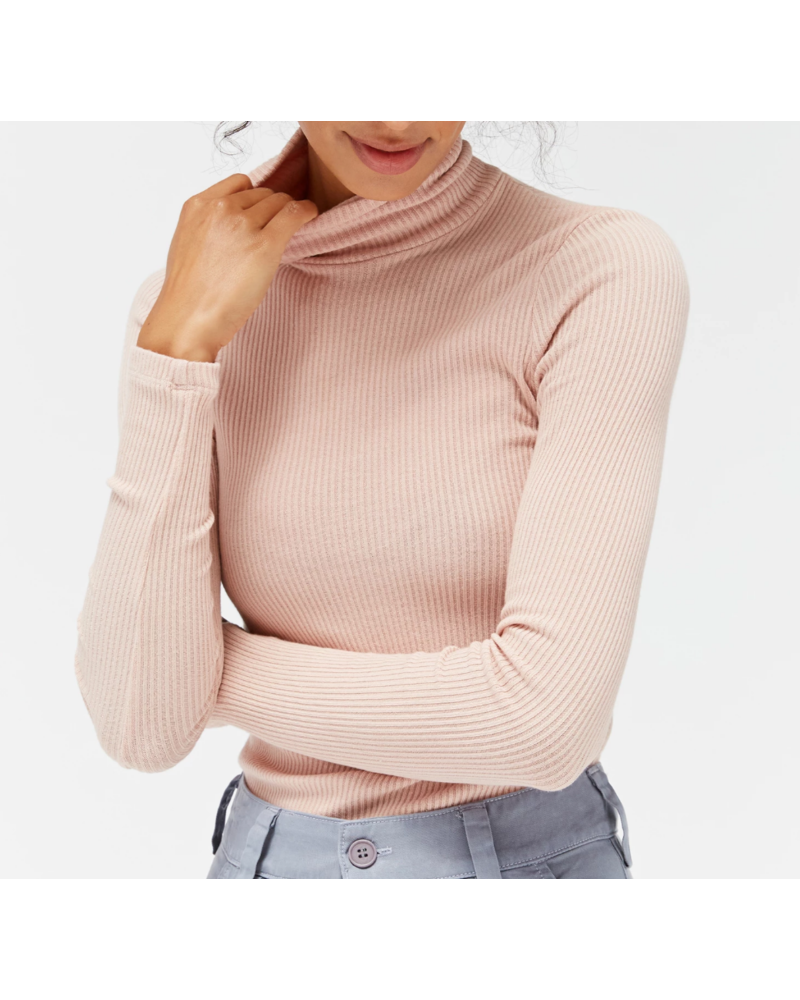 LACAUSA Sweater Ribbed Turtleneck