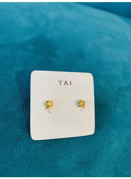 Tai Gold Flower Post Earring