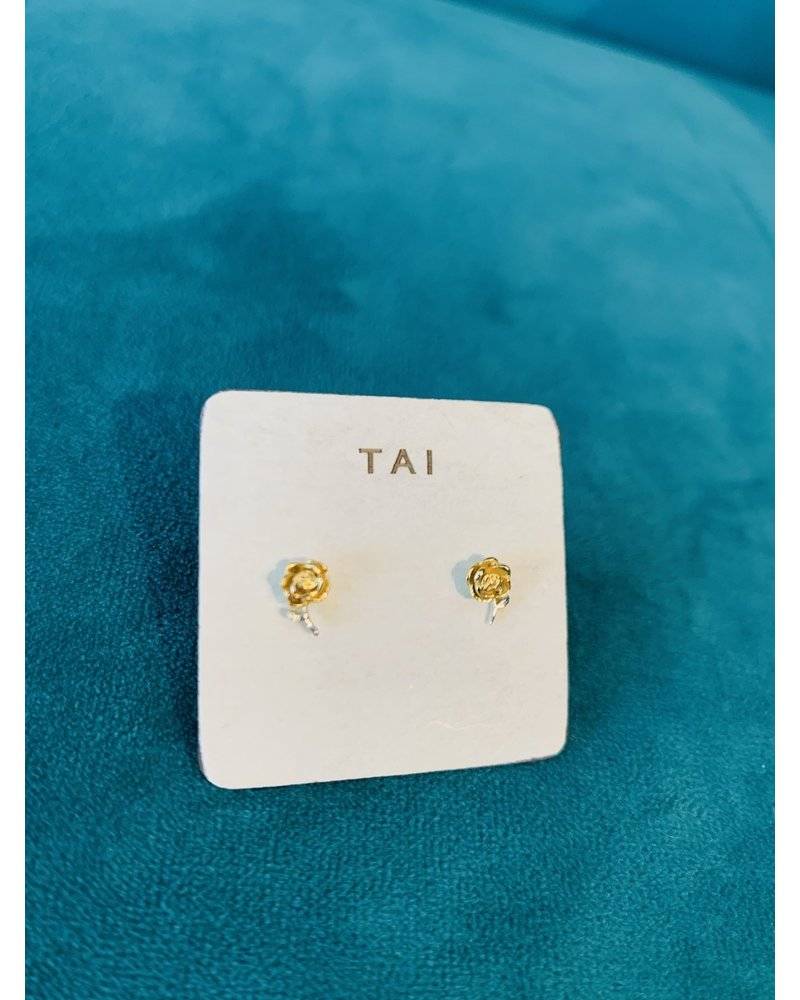 Tai Gold Flower Post Earring