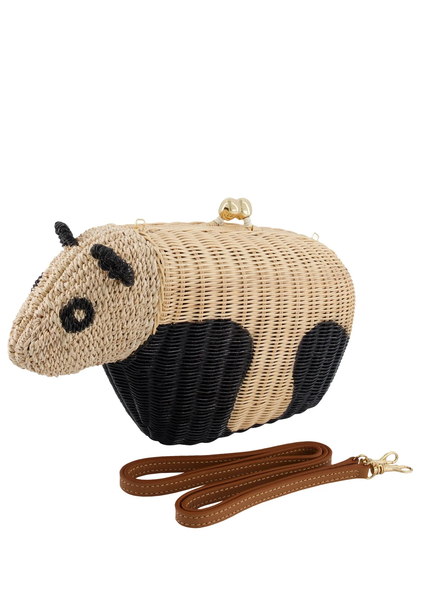 SERPUI Panda Wicker Bag