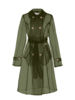 Apparis Oliva Organza Sheer Trench