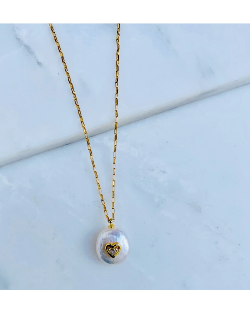 Natalie B Pearl of Love Necklace
