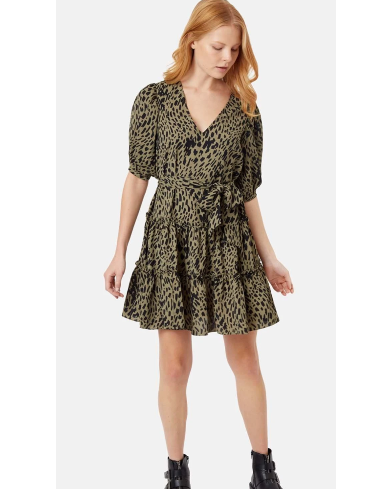 Traffic People Ruffle Button Dress