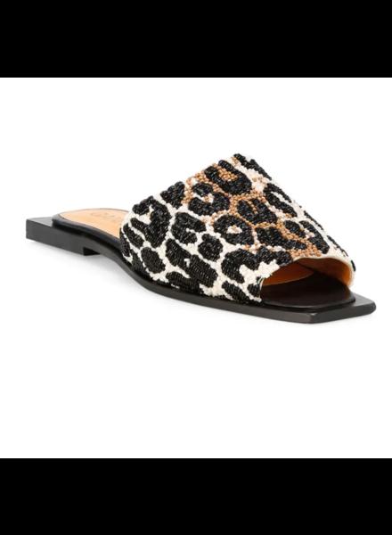 Ganni Leopard Slipper