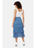 Traffic People Tiered Ruffle Skirt