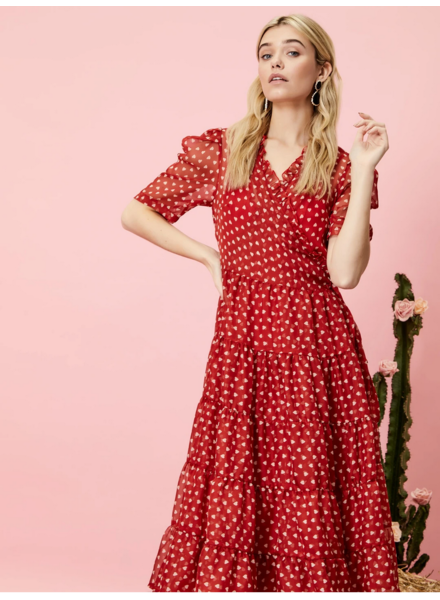 sister jane Scarlet Whistle Wrap Dress