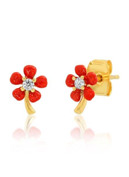 Tai Flower Post Earring