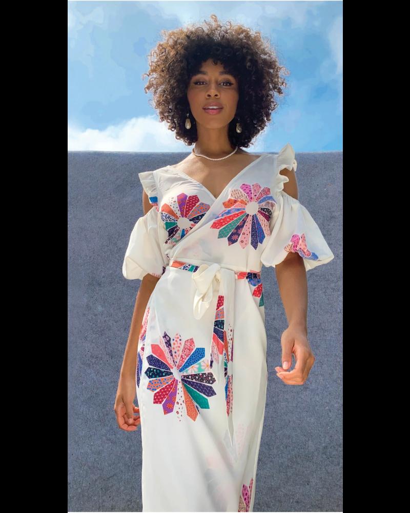 NFD Patchwork Wrap Dress