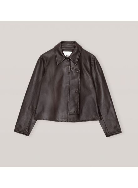 GANNI Stich Leather Jacket