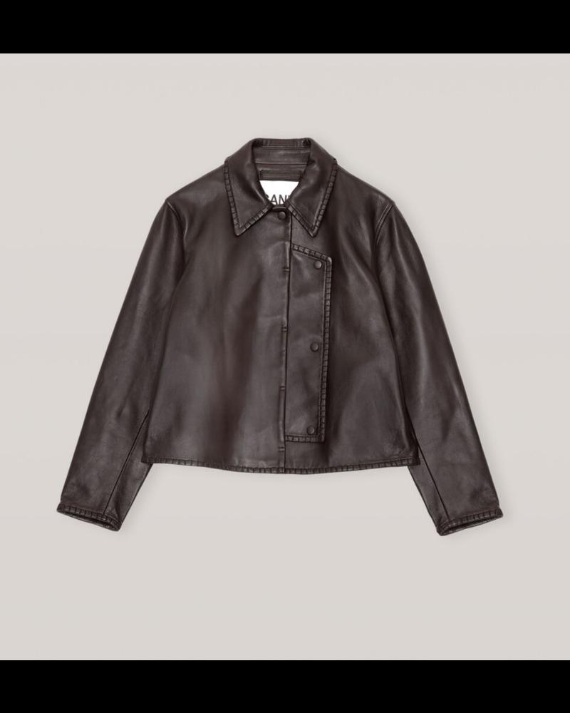 GANNI Stich Leather Jacket