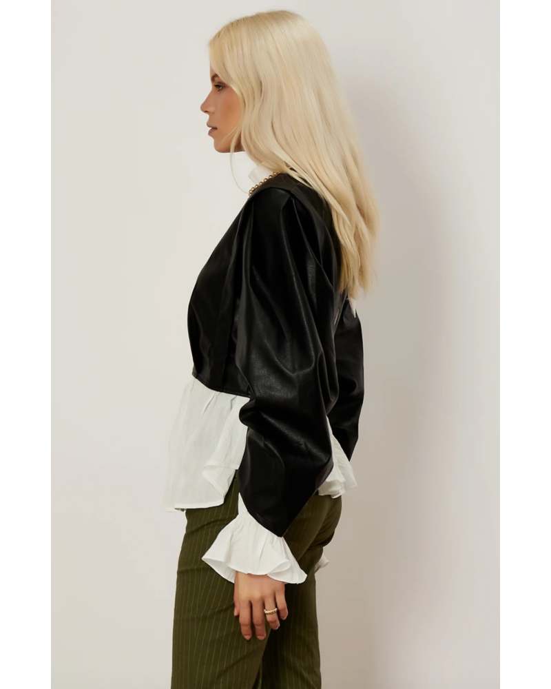 Sister Jane Balanced Form Faux Leather Top