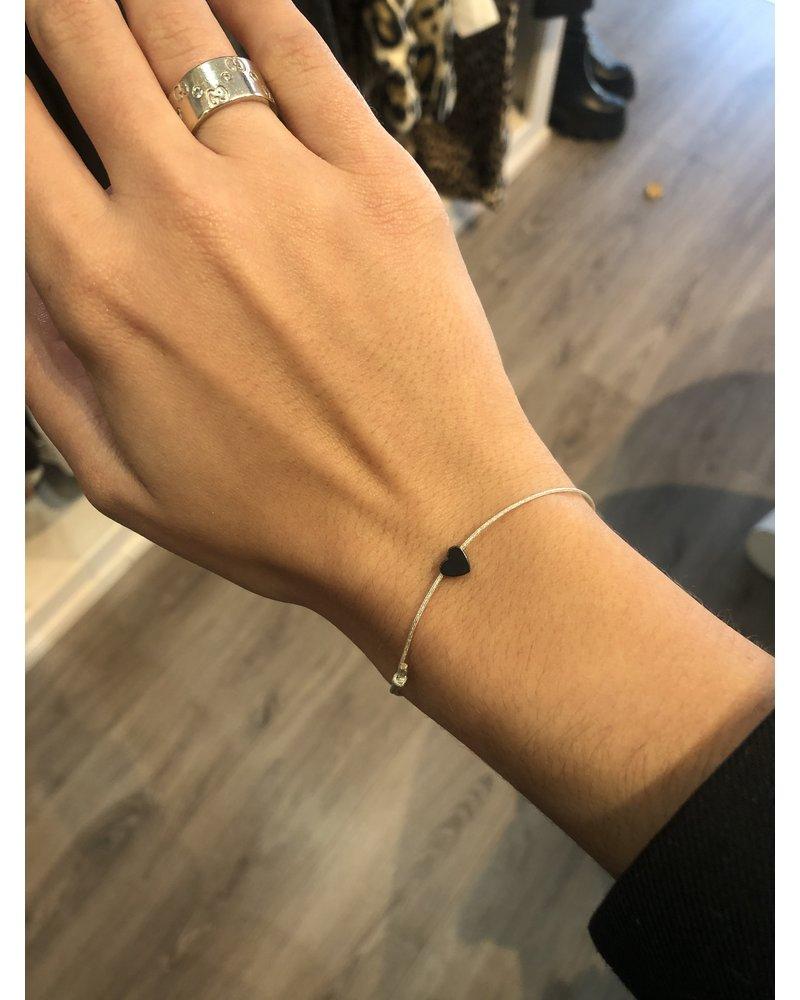 OIYA Dark Heart Charm Bracelet