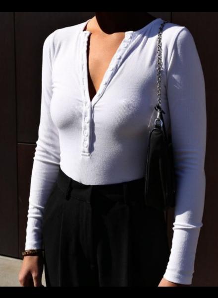 BAYSE Henley Bodysuit