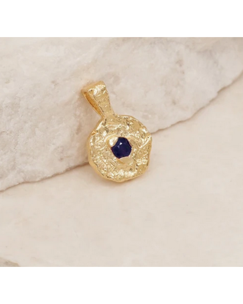 By Charlotte Gold Birthstone Pendant