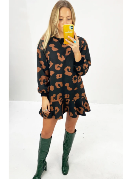 Never Fully Dressed Leopard Sweat Dress