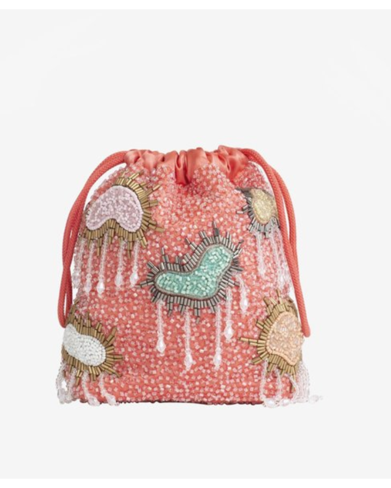 HVISK Cloud Beaded Pouch
