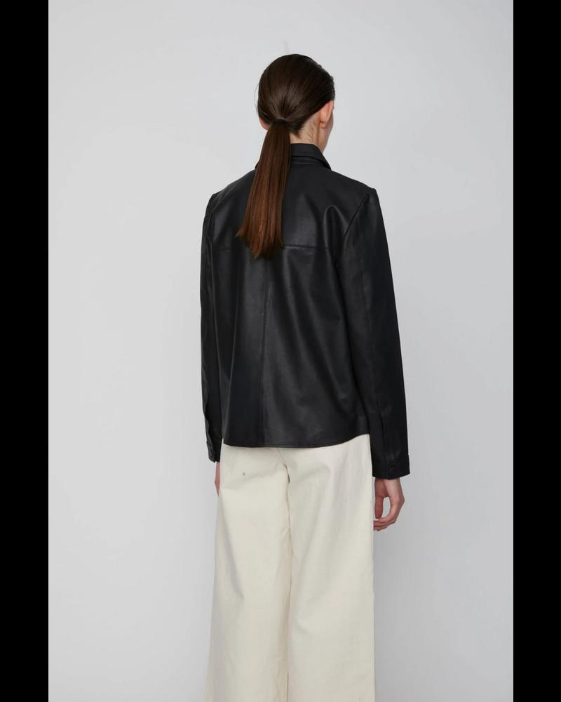 Just Female Joy Leather Shirt