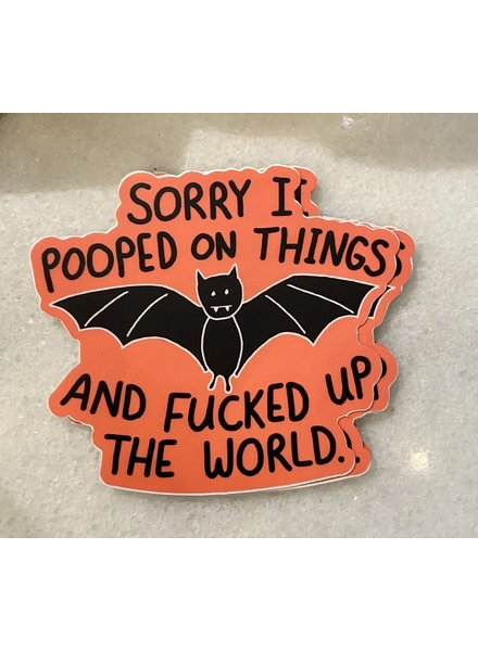 B & T Bat Poop Sticker
