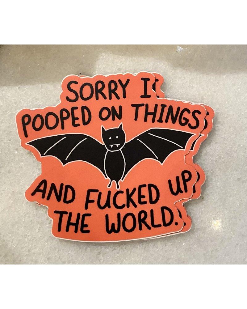 B & T Bat Poop Sticker