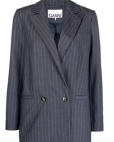 Ganni Stretch Stripe Blazer