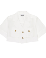 Ganni Cropped Shirt