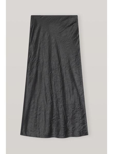 GANNI Crinkled Satin Skirt