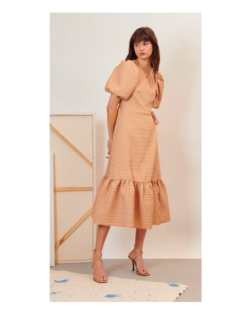 Ghospell Creation Midi Wrap Dress
