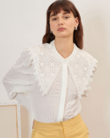 Ghospell Archive Lace Collar Shirt