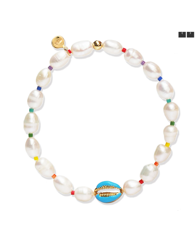 Tai Enamel Shell Elastic Bracelet