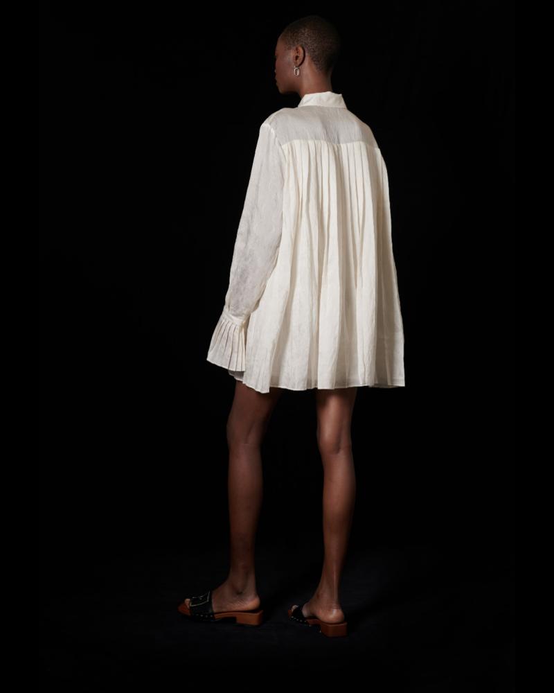 Ghospell Counter Pleated Mini Dress