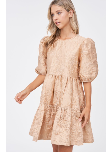En Saison Jacquard Babydoll Dress