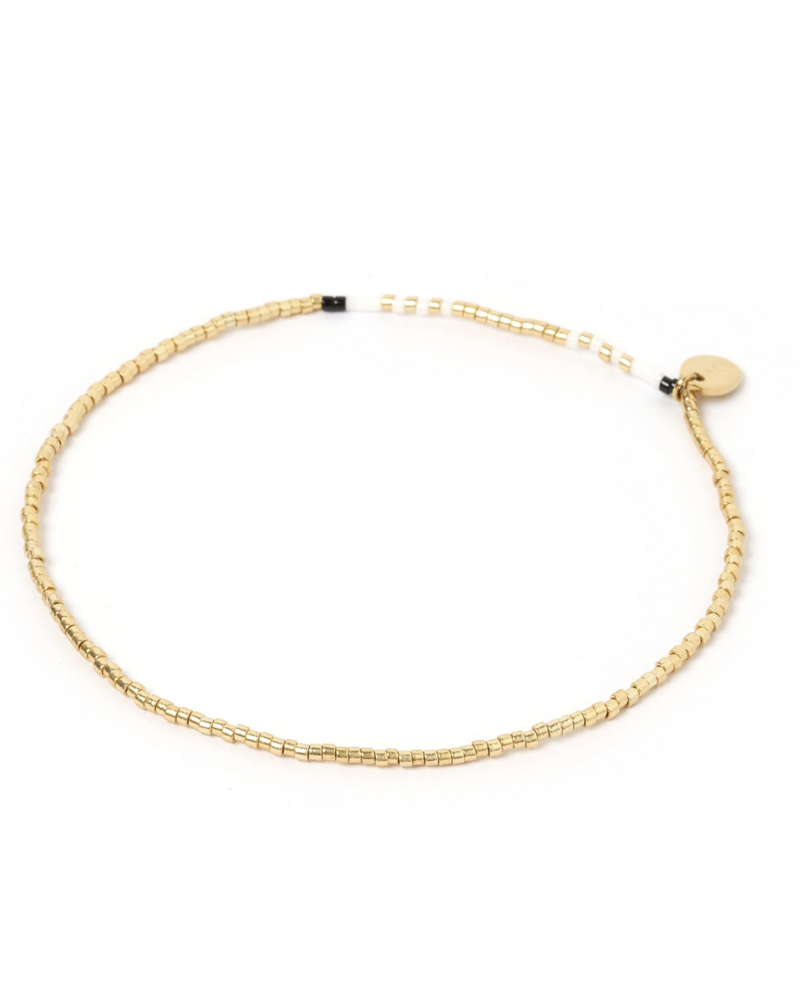 AOE Pearl & Glass Beaded Anklet