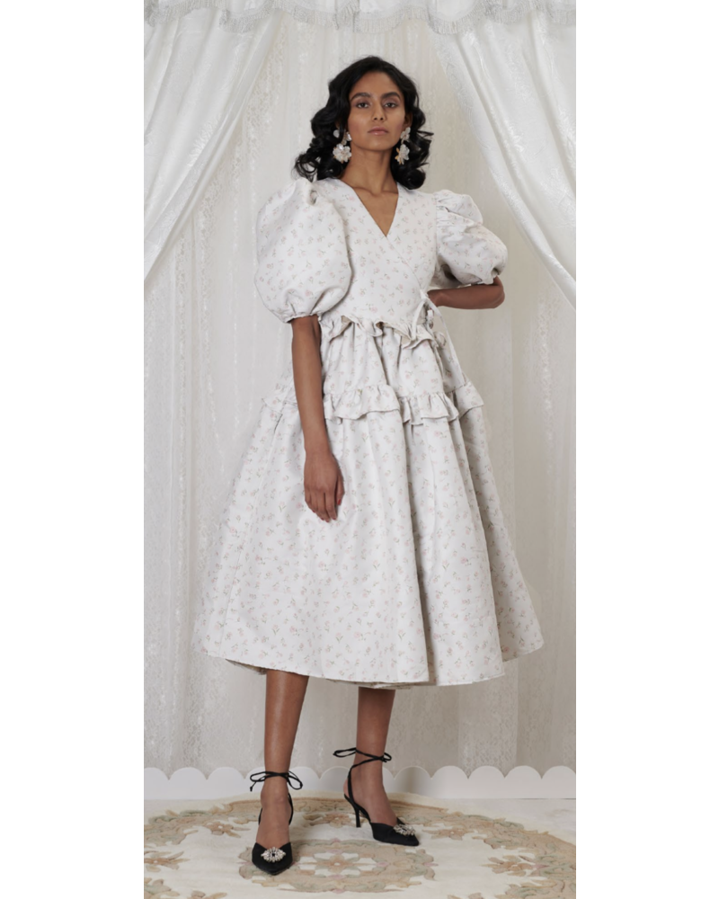 Sister Jane Betsy Jacquard Midi Wrap Dress